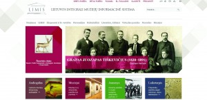 Lietuvos integralios muziejų informacinės sistemos (LIMIS)  portalo www.limis.lt titulinio puslapio fragmentas