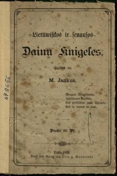 Knyga Lietuwiszkos ir senausos dainu knigeles