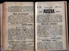Mėnesinis laikraštis Aušra
