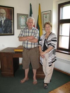 Martynas su žmona Dalia